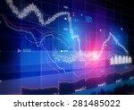 stock market graph. | Shutterstock . vector #281485022