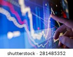 a city worker analysing stock... | Shutterstock . vector #281485352