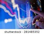 a city worker analysing stock... | Shutterstock . vector #281485352