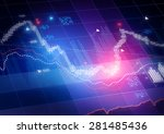 candle stick stock market... | Shutterstock . vector #281485436