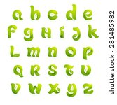 ecology english alphabet... | Shutterstock .eps vector #281485982