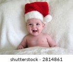 baby with santa hat on   Shutterstock . vector #2814861