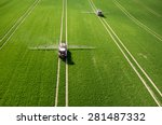 Aerial View Of The Tractor...