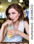 indoor fashion lifestyle... | Shutterstock . vector #281488232