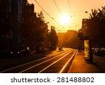 Beautiful Urban Sunrise In The...