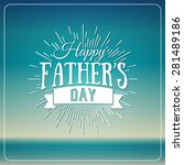 retro elements for father's day ... | Shutterstock .eps vector #281489186