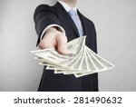 businessman with american... | Shutterstock . vector #281490632