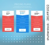 vector pricing table in flat...   Shutterstock .eps vector #281491022