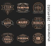 set of hipster vintage labels ... | Shutterstock .eps vector #281491052