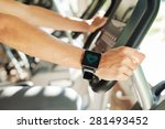 smart watch showing a heart... | Shutterstock . vector #281493452