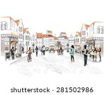 series of the streets with... | Shutterstock .eps vector #281502986