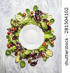 Healthy Salad With Cucumber An...