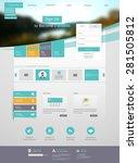 flat web design elements.  | Shutterstock .eps vector #281505812