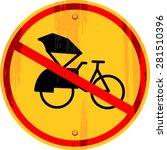 No Vector Rickshaw Pedicab...