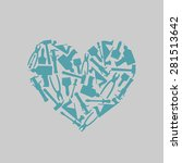 Symbol Heart Of Carpentry Tools....