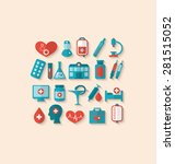 illustration collection trendy... | Shutterstock . vector #281515052