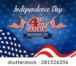 independence day background and ... | Shutterstock .eps vector #281526356
