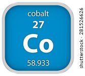 cobalt material on the periodic ... | Shutterstock . vector #281526626