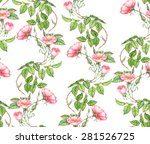 hand drawn watercolor seamless... | Shutterstock .eps vector #281526725