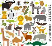 seamless pattern animal africa... | Shutterstock .eps vector #281527892