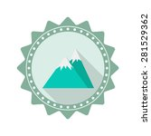 mountain flat icon with long...