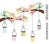 floral decoration  design ...   Shutterstock .eps vector #281533382