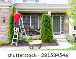 yard work around the house... | Shutterstock . vector #281534546