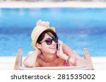 portrait of beautiful young... | Shutterstock . vector #281535002