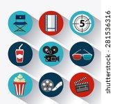 cinema design over white... | Shutterstock .eps vector #281536316