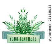 cover with green watercolor...   Shutterstock .eps vector #281538185
