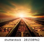 junction of railways track in... | Shutterstock . vector #281538962
