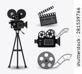 cinema design over white...   Shutterstock .eps vector #281539766