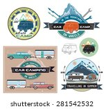 vector set of cars and camping... | Shutterstock .eps vector #281542532
