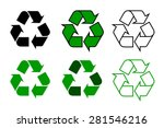 recycle symbol or sign set ... | Shutterstock .eps vector #281546216