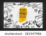 cafe menu restaurant brochure.... | Shutterstock .eps vector #281547986