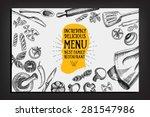 Cafe menu restaurant brochure. Food design template. | Shutterstock vector #281547986
