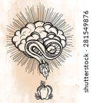 hand drawn vintage tattoo.... | Shutterstock .eps vector #281549876