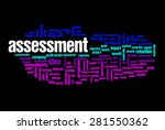 assessment word on cloud... | Shutterstock . vector #281550362