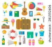 flat design of summer beach... | Shutterstock .eps vector #281552606