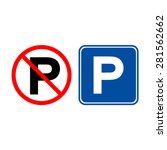 no parking. parking space | Shutterstock .eps vector #281562662