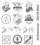 set of vector logos  badges and ... | Shutterstock .eps vector #281563862