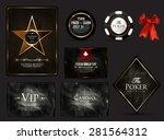 casino card collection poker... | Shutterstock .eps vector #281564312