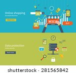 set of flat design vector... | Shutterstock .eps vector #281565842