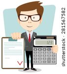 male accountant with a... | Shutterstock .eps vector #281567582