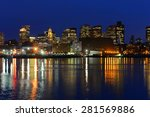 boston city skyscrapers  custom ... | Shutterstock . vector #281569886