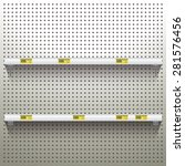 white pegboard in workshop... | Shutterstock .eps vector #281576456