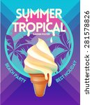 summer  tropical vector poster | Shutterstock .eps vector #281578826
