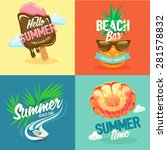 set labels summer vacation and... | Shutterstock .eps vector #281578832