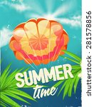 vector poster brolly summer time | Shutterstock .eps vector #281578856