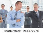smiling business team standing... | Shutterstock . vector #281579978